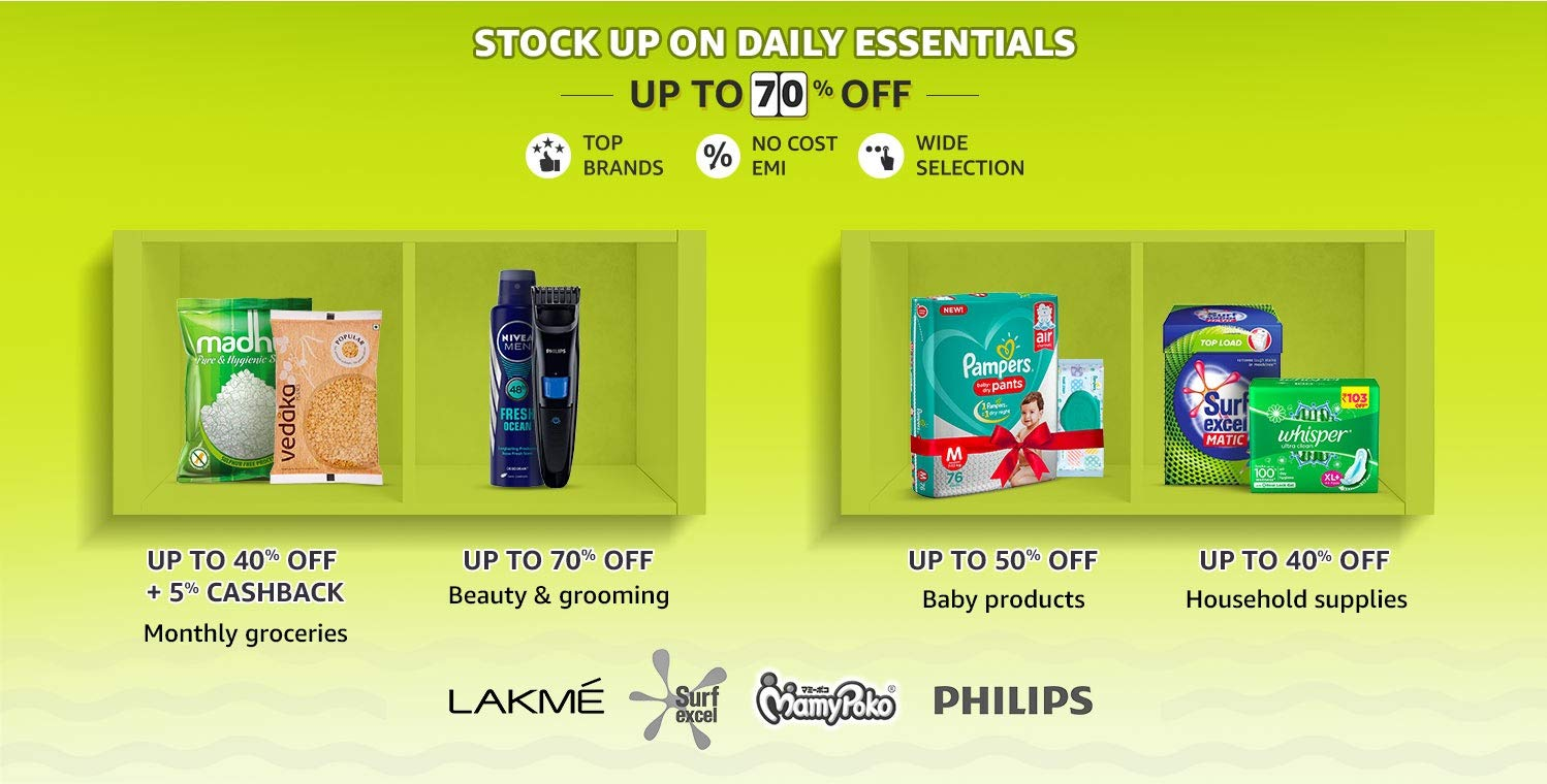 Stock Up On Daily Essentials
