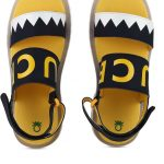 United Colors of Benetton Girls Velcro Sports Sandals(Yellow)